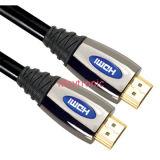 Cabo de alta velocidade de HDMI com luz do diodo emissor de luz, sustentação para 3D/4k/18gbps/2160p