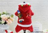 Ropa del día de fiesta del perro de la capa de Hoodie de la Navidad del animal doméstico de la Navidad