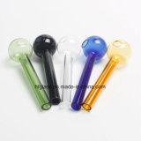 10cm Curved Glass Oil Burners Balancer Oil Rigs Acessórios para fumar Cores misturadas em estoque para Wholesale Factory