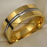 De unieke Ring van de Vinger van het Titanium van het Roestvrij staal van het Ontwerp (TR1827)