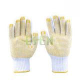 Usine économique de Whice de gants de travail de gants de coton de PVC directe