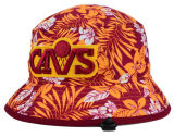 chapéu da cubeta da forma do algodão do logotipo do bordado 3D