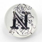 組合せの文字デザイン樹脂の熊手のスナップボタン