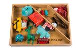 Divisor de bambú del cajón del rectángulo y del organizador de la cabina