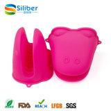 Luvas materiais do suporte de potenciômetro da forma da luva da râ do silicone do produto comestível