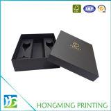 Коробка подарка каннелюры Шампань картона 2 частей черная