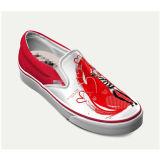 Dropshippingの工場デザインキャンバスのスニーカーの昇華印刷の標準的なスリップのあなた自身の靴