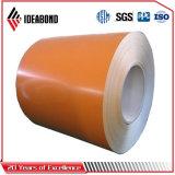 L'aluminium a enduit le matériau d'une première couche de peinture de construction de bobines (AF-380)