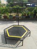 Mini un trampolín de salto hexagonal del amortiguador auxiliar de la correa con la maneta para la venta