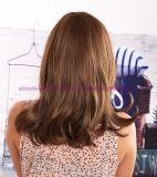 Peruca sintética resistente ao calor do cabelo do estilo ondulado longo com estrondos