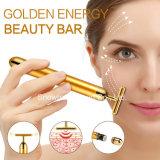 Barra de belleza en forma de T de primera calidad de 24k plateada en oro