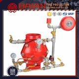 Válvula de alarme molhada do sistema de extinção de incêndios automático
