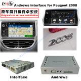 Peugeot 208 2008년, 308, 408, 508 (MRN 시스템) 뒷 전망, 미러 링크, 음성 통제를 위한 인조 인간 GPS 항법 상자 영상 공용영역