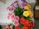 グループの装飾の安い絹が付いている花