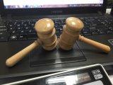 Gerechtigkeit-Symbol Beurkundung-hölzerner Hammer USB-des grellen Feder-Laufwerks