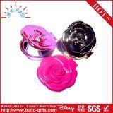 Specchio piegante quadrato dello specchio Pocket compatto con il fiore