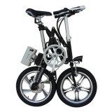 Liga de alumínio da suspensão cheia de 16 polegadas que dobra a bicicleta de E
