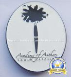 주문을 받아서 만들어진 염료 검정 연약한 사기질 자석 접어젖힌 옷깃 Pin