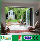 Porte Bifold en aluminium|Portes en verre extérieures|Prix en aluminium de portes de salle de bains
