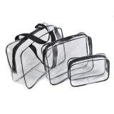Sacchetto impermeabile libero trasparente dell'estetica di trucco della lavata di corsa di modo del PVC