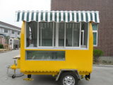 ¡El último precio! ¡! ¡! Envase eléctrico móvil del acoplado del carro del alimento de las hamburguesas de la sartén para la venta