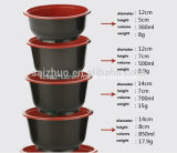 bacia de sopa quente plástica descartável da injeção 850ml preta vermelha