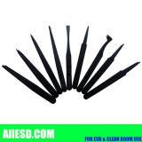 Geleidende ESD Zwarte Plastic Tweezer