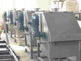 格子ギャップ0.25-2.5mm印刷および染まる廃水のための304/316の回転式ドラムFiltrer
