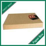 Rectángulo de papel de envío del libro acanalado con insignia de encargo