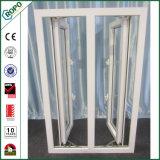 Exterior abierto modificado para requisitos particulares del PVC de la ventana blanca del marco con el marco doble