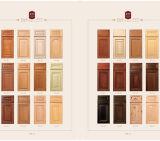 Porte d'oscillation en bois de Module de cuisine de peinture blanche de modèle simple (GSP5-005)