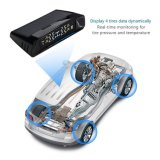 TPMS, système sans fil de moniteur de pression de pneu d'écran LCD de Digitals d'énergie solaire avec 4 détecteurs externes pour le véhicule à la maison