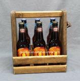 Carrier van het Embleem van de douane de Stevige Houten met Opener voor de Wijn van het Bier