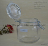 frasco de vidro do quadrado da bala 100ml-1000ml, frasco do armazenamento do alimento