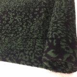 Impresión lista/común del leopardo de la tela de las lanas del telar jacquar