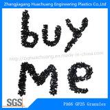 Pelotas da fibra de vidro 25% da poliamida PA66 para plásticos da engenharia
