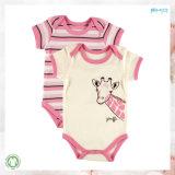 La ropa del bebé de la impresión del mono del desgaste del bebé del Sobre-Cuello fijó