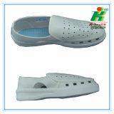 Anti-Static PVC agujeros Cleanroom trabajo zapatos
