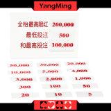 바카라 카지노 전용 고급 아크릴 내기 한계 카드 부지깽이 테이블 한계 표시 Ym-LC01