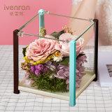 Presente da flor de Preservrd para o aniversário do Valentim