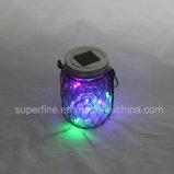 Luxe magique Multicolor Wedding Deco Rechargeable Solar Spot Lights avec scintillement