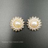 Hochzeits-Dekoration-Silber22mm runde Rhinestones-Tasten-Perlen-Taste (TB-100)