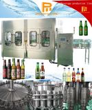 Automatische Glasflasche mit Kronen-Schutzkappen-Bier-füllender mit einer Kappe bedeckender Maschine