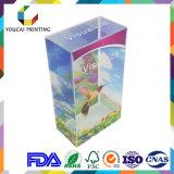Визуализированная прозрачная пластичная коробка с печатание цвета