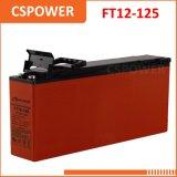 Telecomunicações terminais do acesso dianteiro da fonte 12V125ah de China & bateria magro solar do UPS do AGM