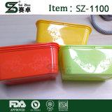 Устранимый контейнер еды с декоративными текстурой и Внутри-Логосом под мембраной