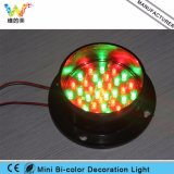 China LED Proveedor Mini Decoración de 80 mm Bi-color de la luz del intermitente