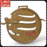 Медаль спорта верхнего надувательства изготовленный на заказ с бегунком