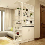 Armario negro de madera estándar modular de la cabina de la sala de estar (UL-WR028)