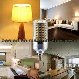 LEDのトウモロコシライトE12 25Wは白い銀製カラーボディLED球根ランプを暖める